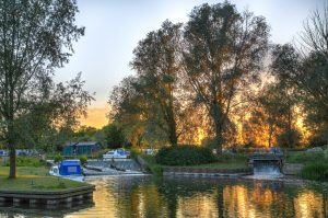 Paper Mill Lock Sunset + S. Lewington W2